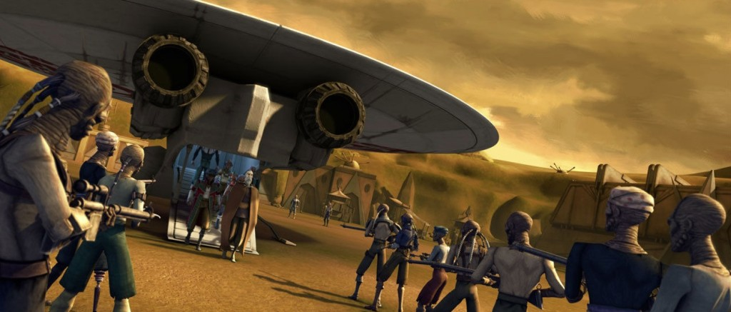 The Clone Wars - Hondo Ohnaka and Count Dooku with the saucership