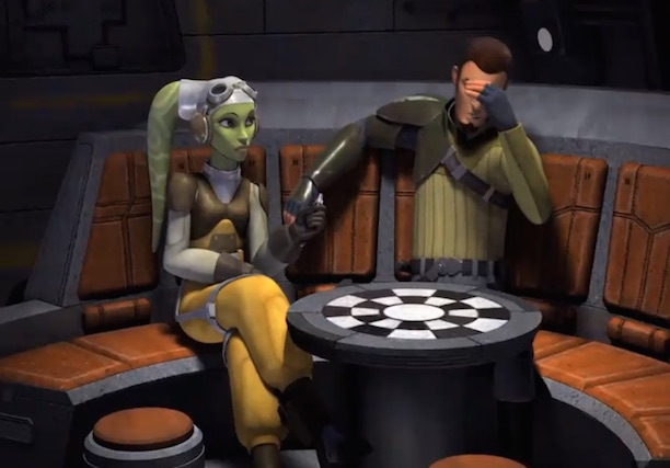Star Wars Rebels - Kanan and Hera aboard the Ghost