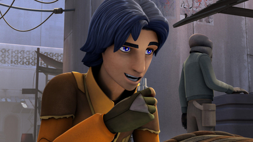 Star Wars Rebels - Ezra talking into a comlink