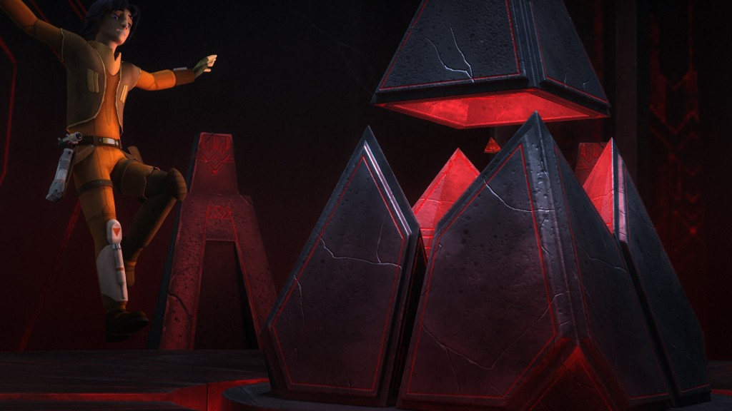Star Wars Rebels - Ezra jumping to reach Sith holocron