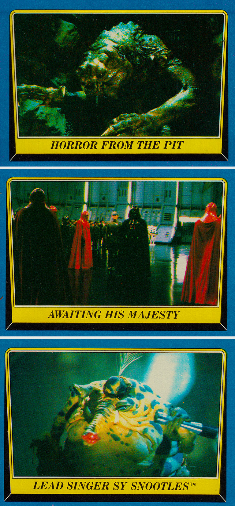 Front of Return of the Jedi Vintage Trading Cards
