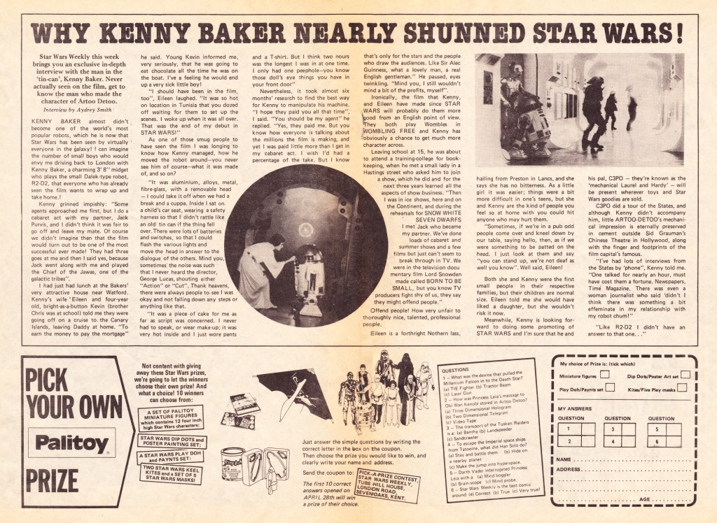 Star Wars Weekly - Kenny Baker Article