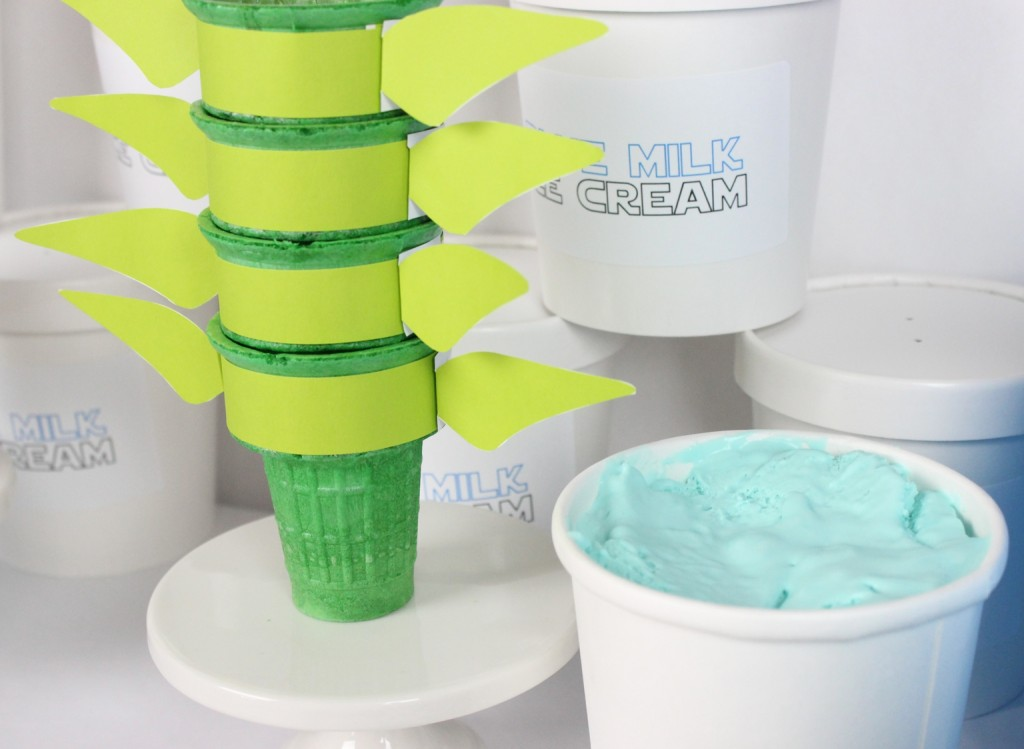 May The 4th Ice Cream Party - Yoda Cones