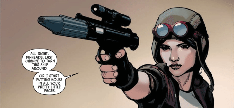 Marvel's Star Wars - Aphra aiming
