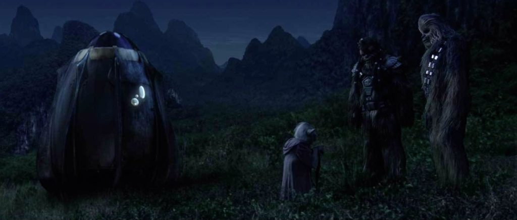 Revenge of the Sith - Chewie helps Yoda flee Order 66