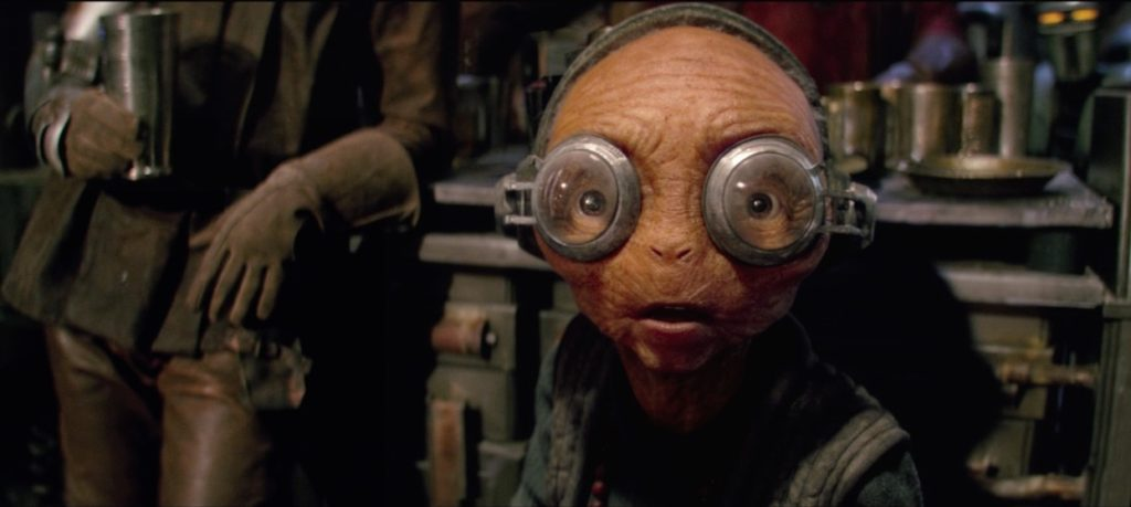 The Force Awakens - Maz seeing Han Solo
