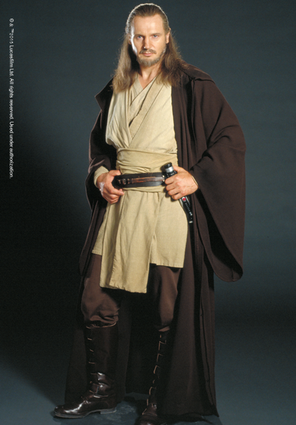 Qui-Gon with his Jedi Robes