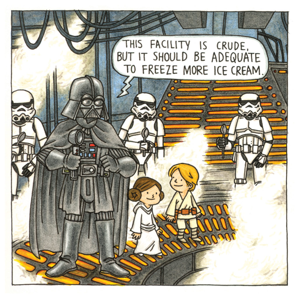Page from Darth Vader and Friends.