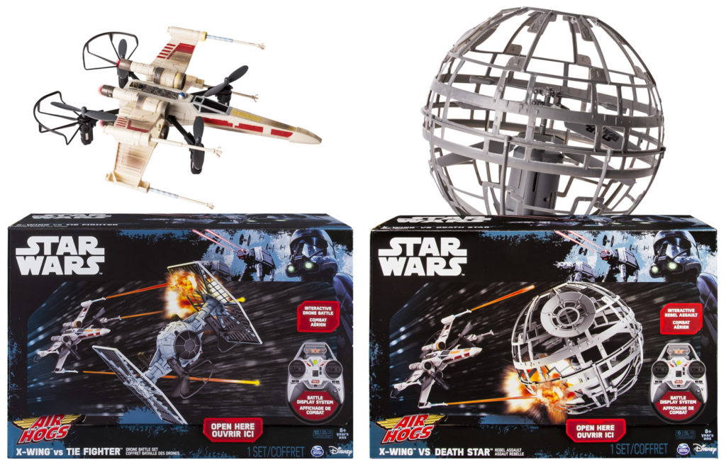 Go Rogue Pre-order: Air Hogs X-wing vs. TIE Fighter Drone Battle Set and X-wing vs. Death Star, Rebel Assault RC Drones