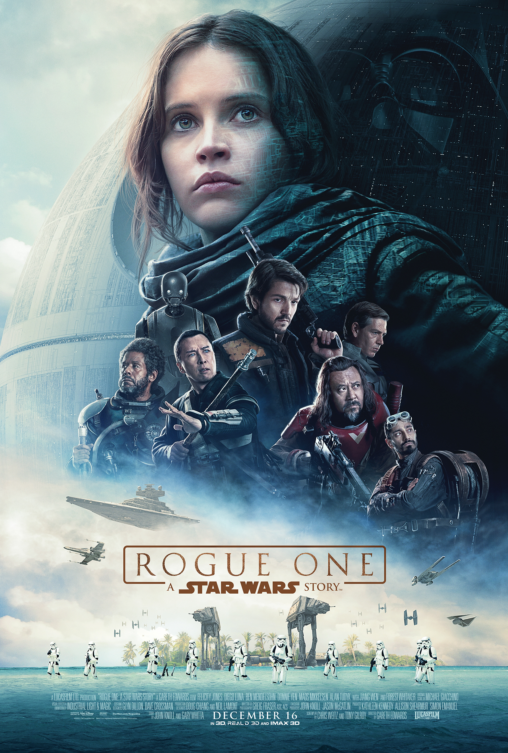 rogue one a star wars story poster revealed and trailer announced on the star wars show. Black Bedroom Furniture Sets. Home Design Ideas