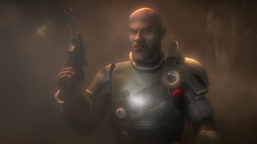 Saw Gerrera in Season Three of Star Wars Rebels