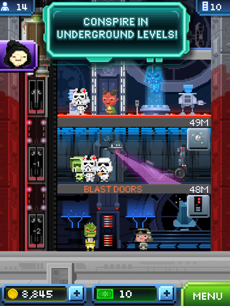 The Empire Goes 8-bit in Star Wars: Tiny Death Star