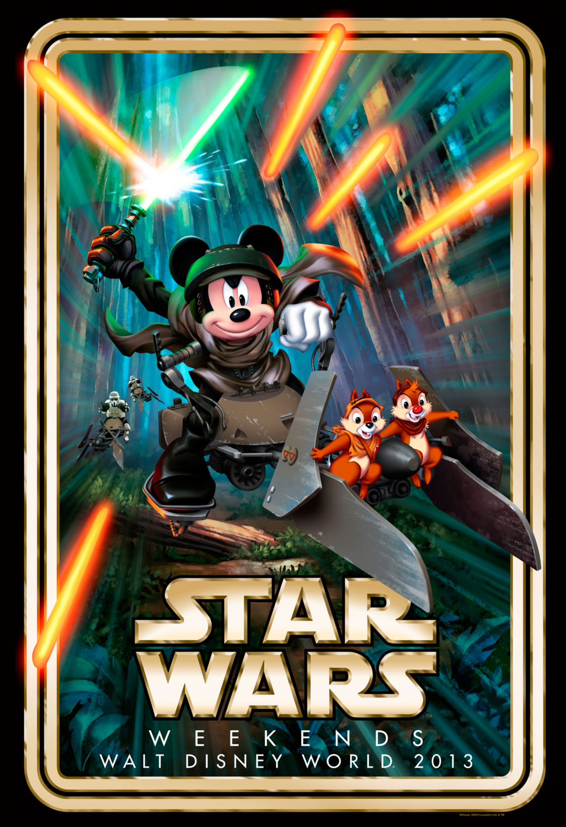 A Villain And Hero Highlight Star Wars Weekends First Look At The 2013 Event Logo
