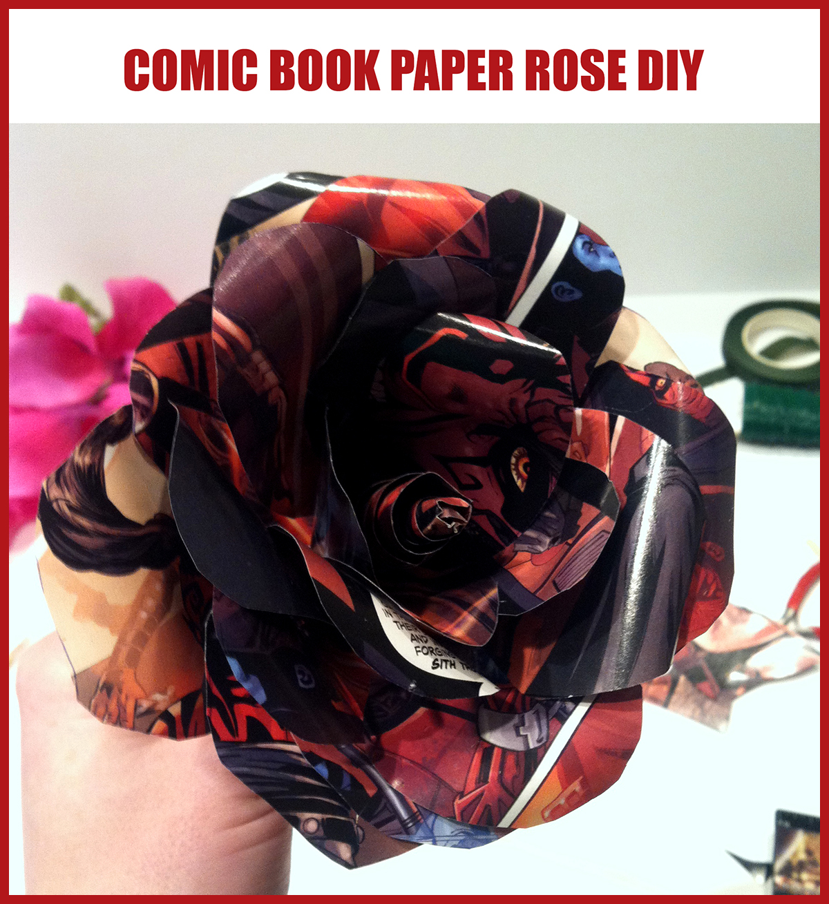How To Make A Star Wars Paper Rose Starwars
