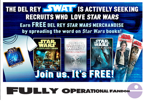 Fully Operational Fandom: Join SWAT, Get Star Wars Books Rewards