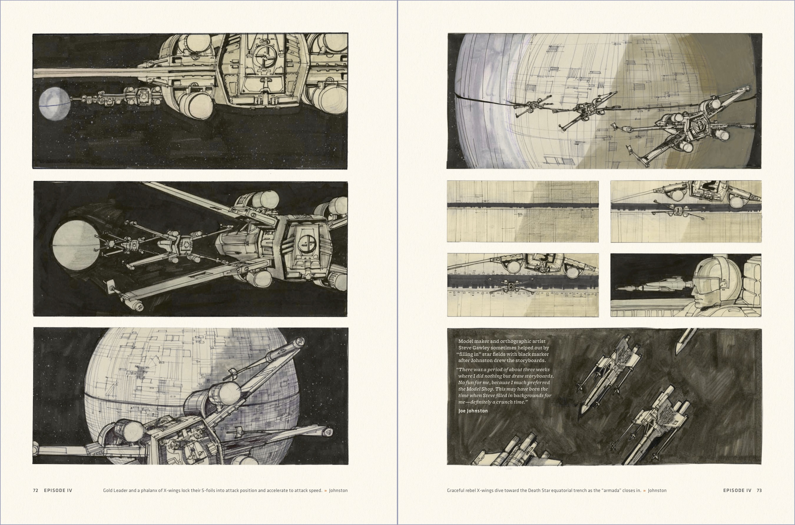 Star Wars Storyboards And Costumes Two Original Trilogy Originals
