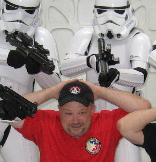 Abin Johnson surrendering to Imperial Stormtroopers
