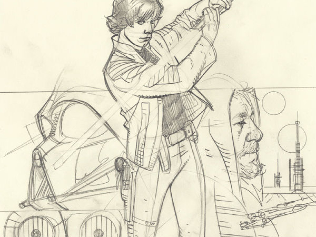 Star Wars: Rebel Heist #4 - Sketch Variant Cover