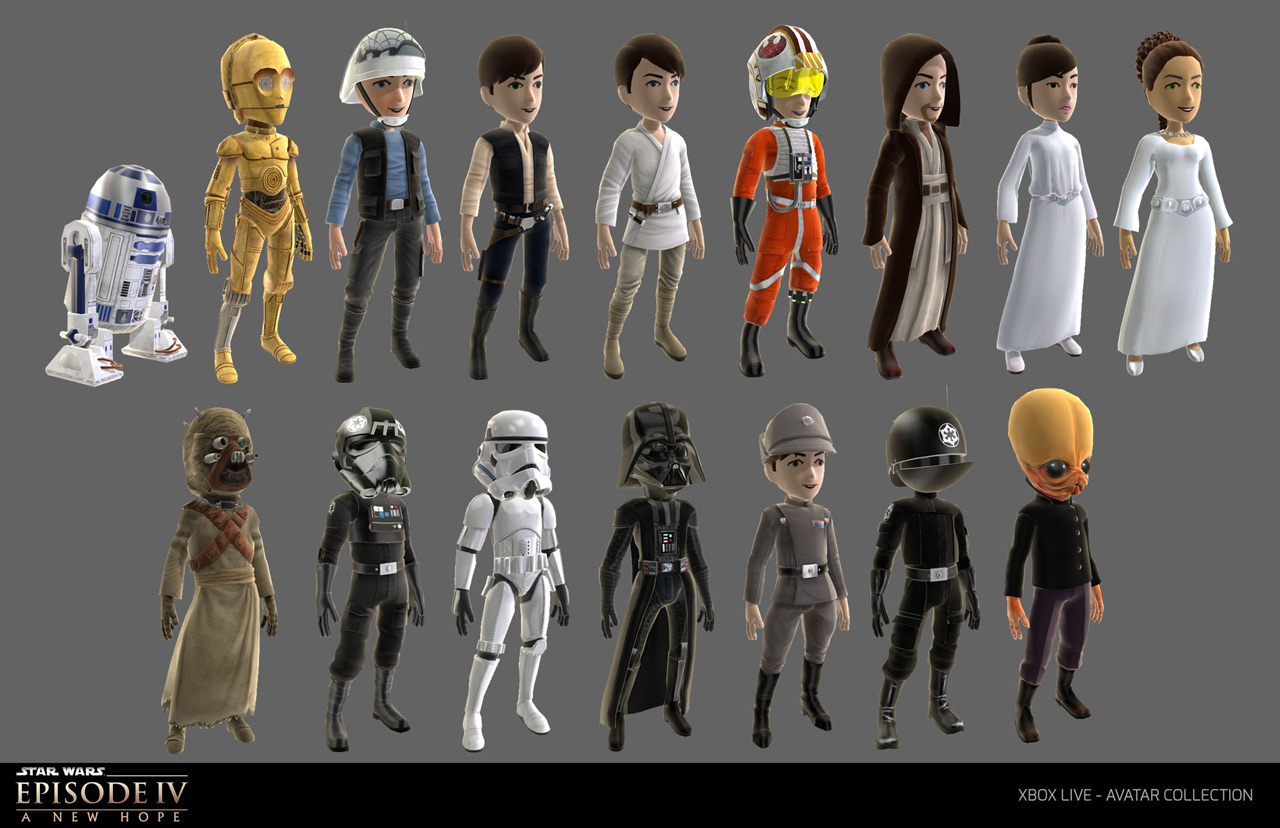 new star wars content hits the xbox live avatar marketplace