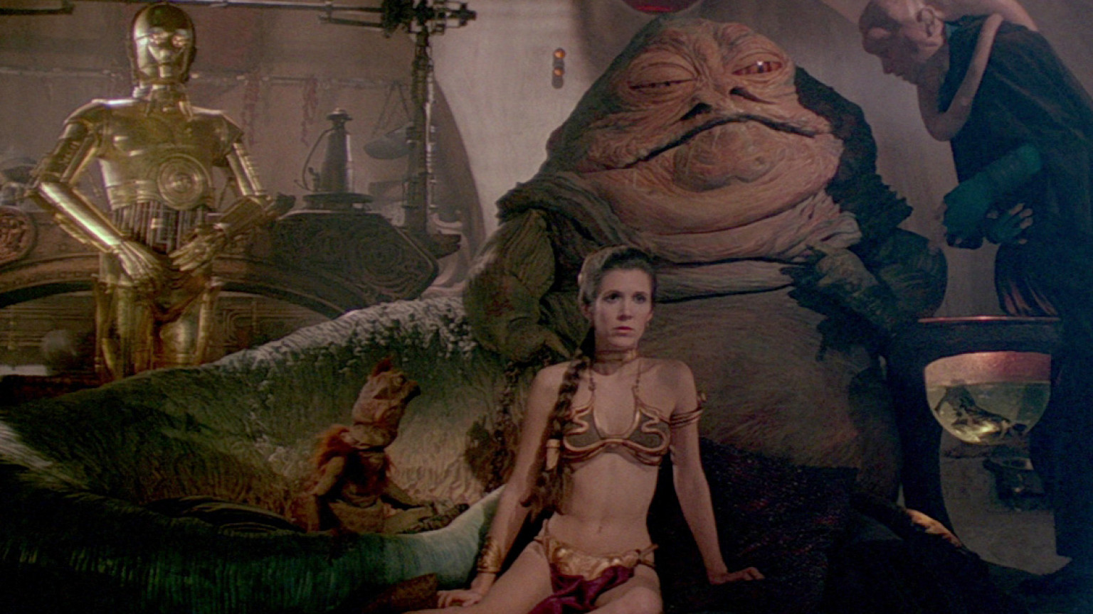 Image result for jabba the hutt and leia