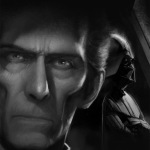 Sketch of Grand Moff Tarkin and Darth Vader