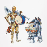 Star Wars Art: Posters - C-3PO and R2-D2 with instruments