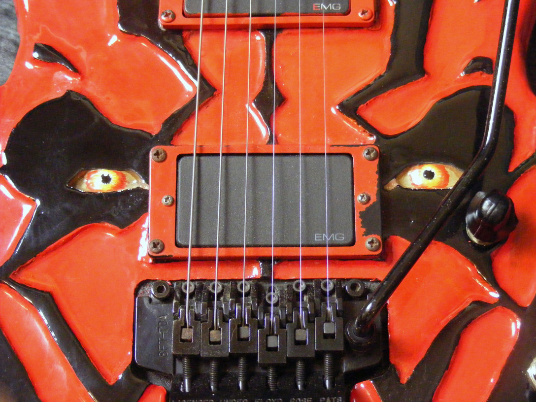 Darth Maul custom guitar by Anthony Colucci