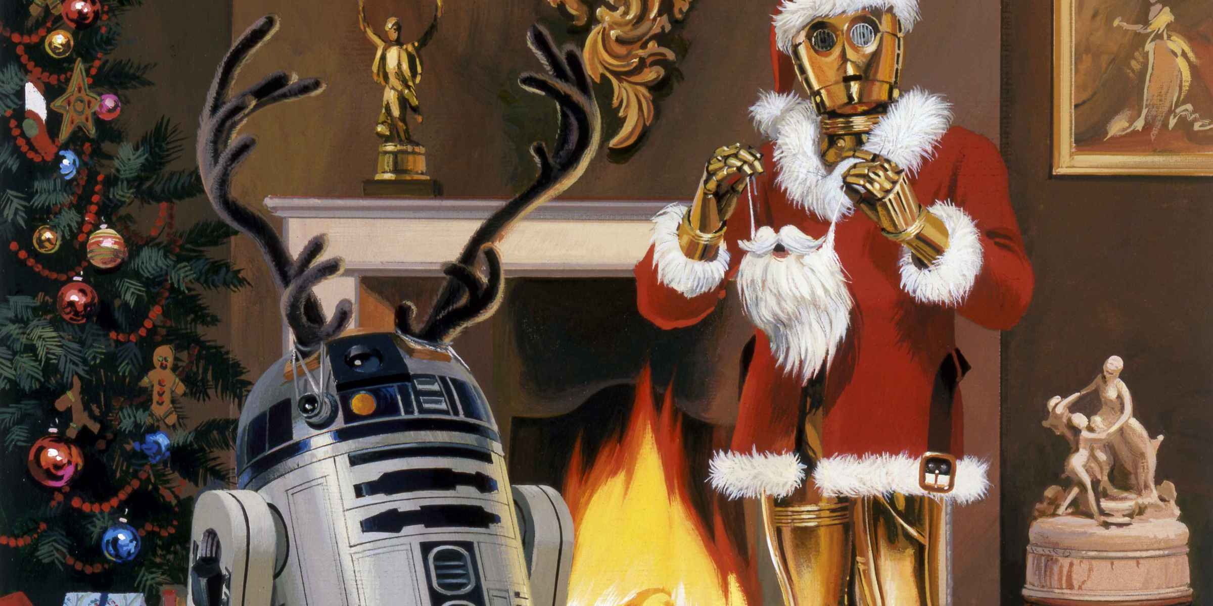 R2-D2 and C-3PO Christmas card