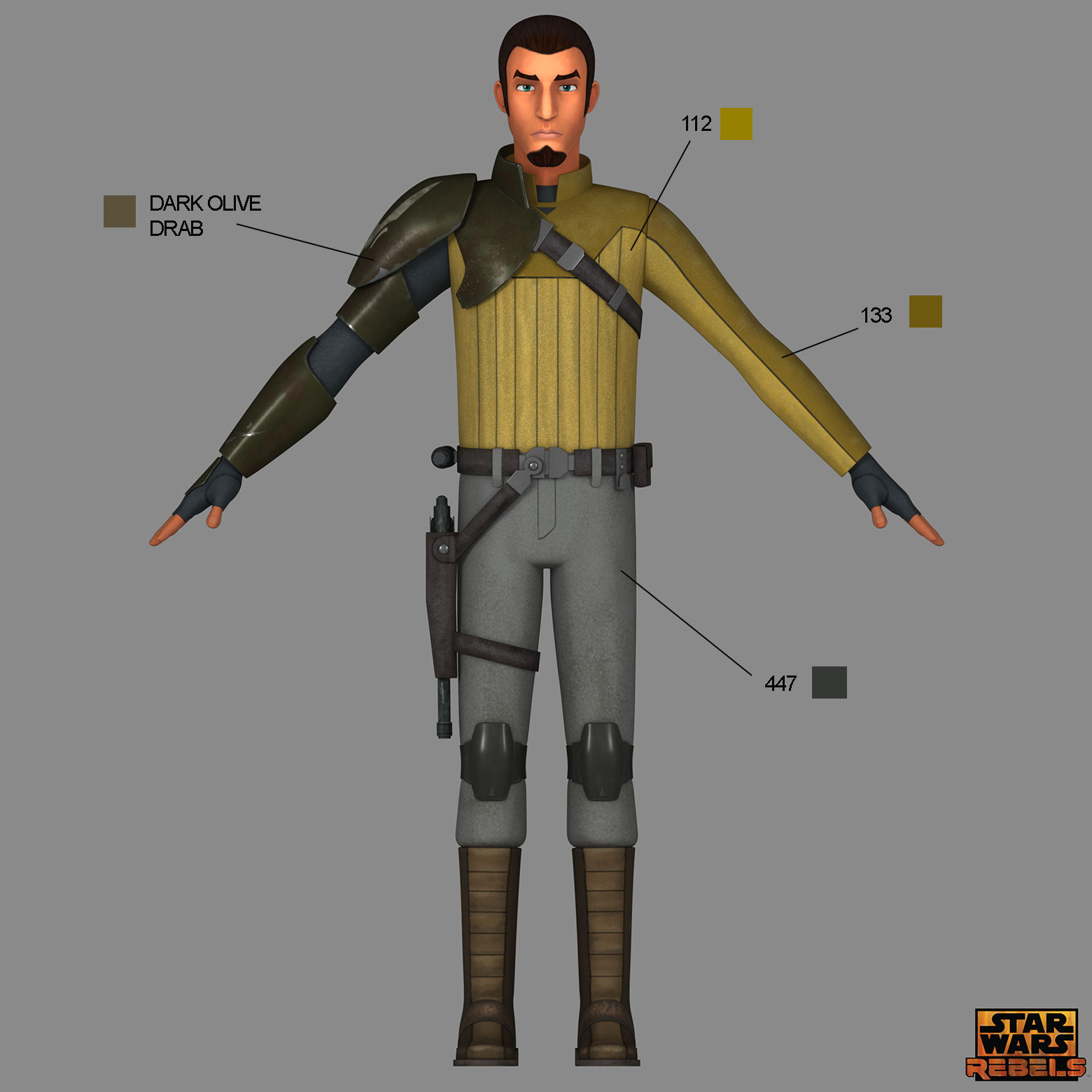 aa5c1e3b Learn the correct shades and hues for your Star Wars Rebels costumes --  straight from the show's creators.