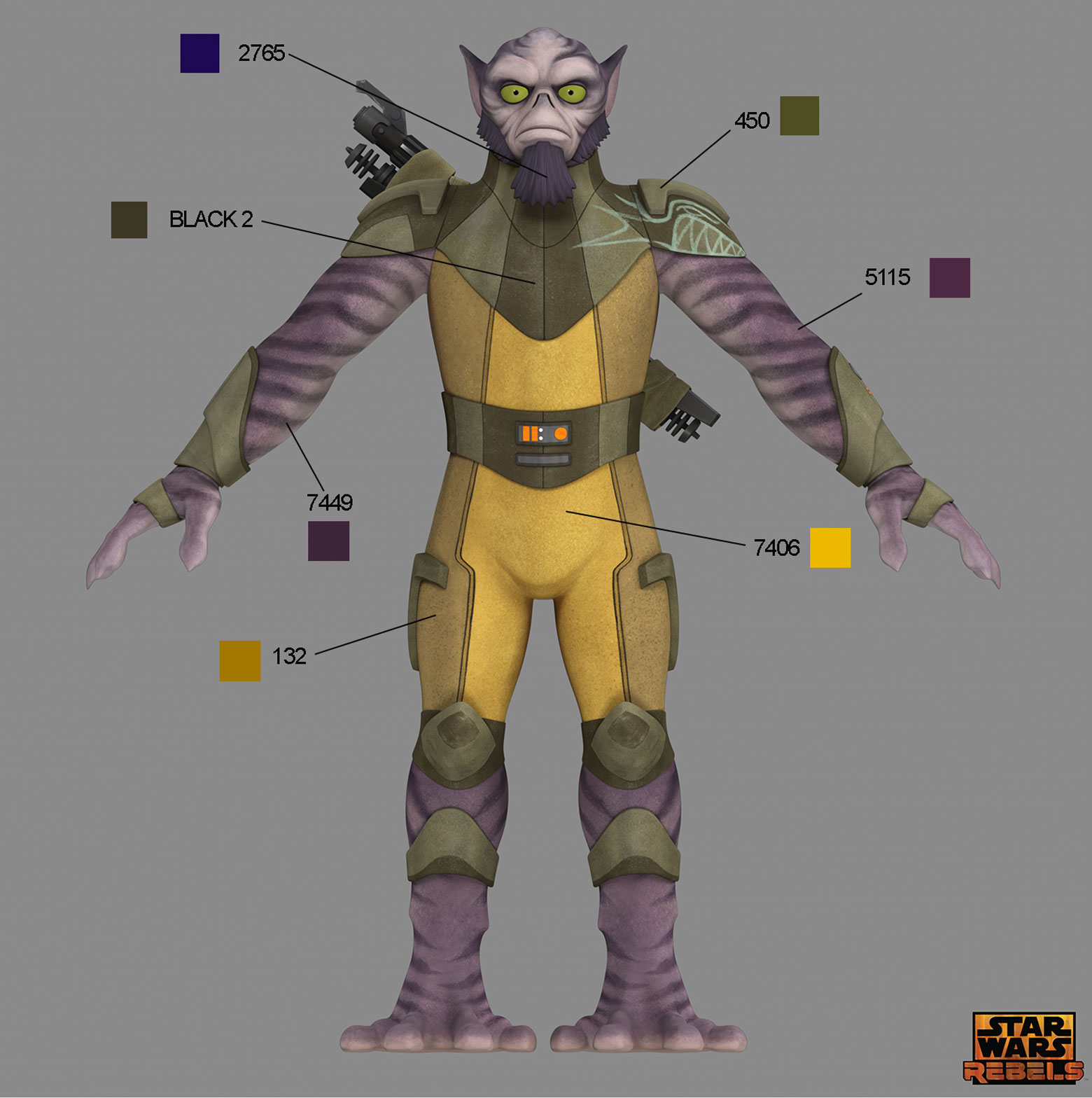 Star Wars Rebels Costume Color Guide For Padawans Twi Leks And