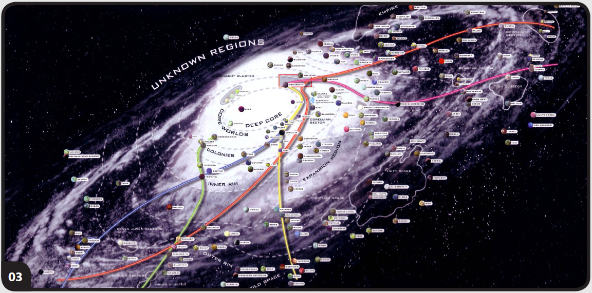 Star Wars Map Of Galaxy Star Wars Maps: Charting the Galaxy | StarWars.com Star Wars Map Of Galaxy