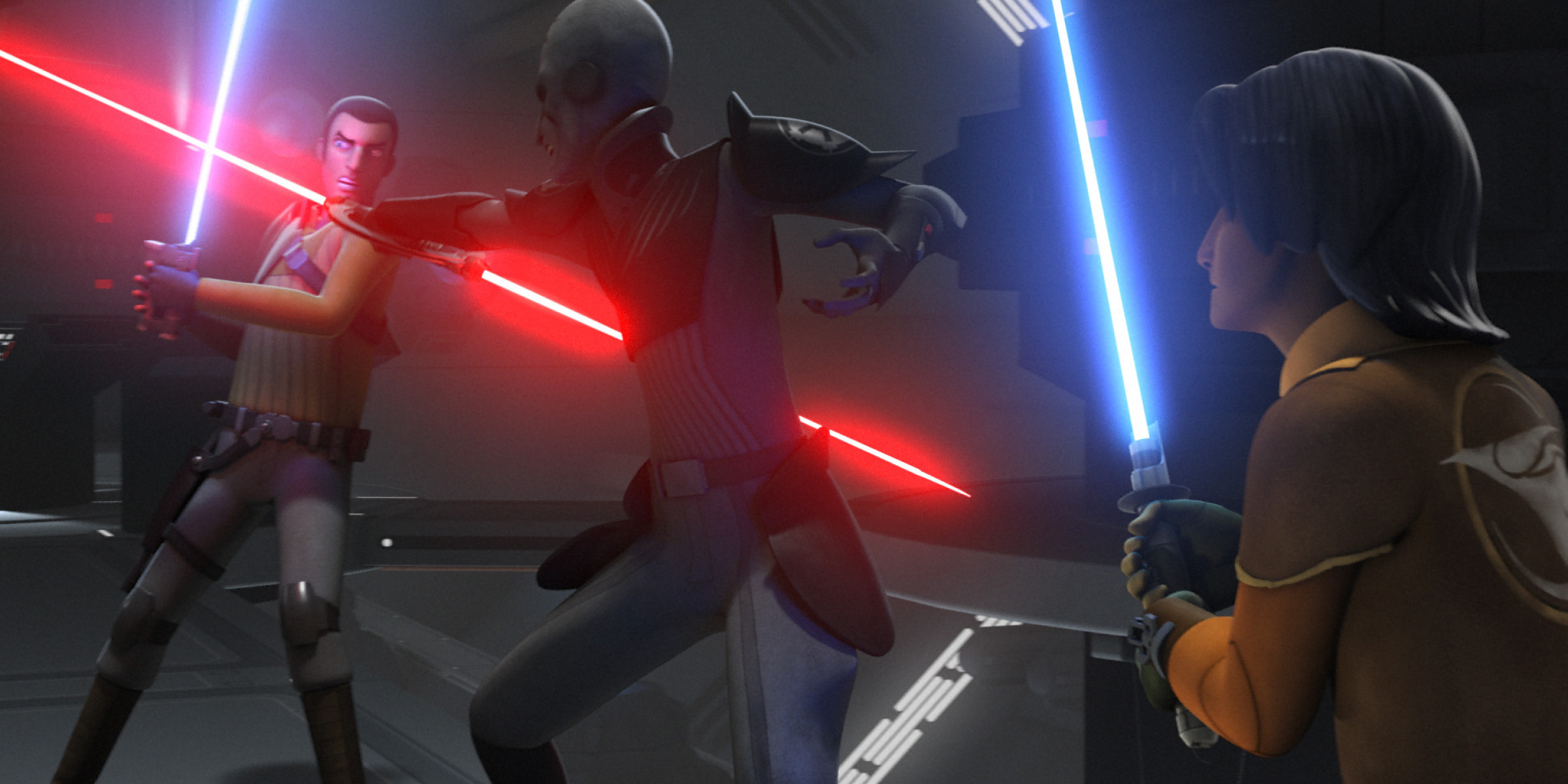 Kanan and Ezra versus the Inquisitor