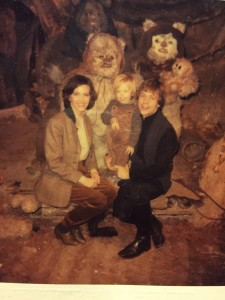 Part of the tribe: Marilou, Nathan, and Mark Hamill with some furry companions.