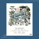 Empire Strikes Back Movie Poster Lithograph by Christopher Lee - 250 Pieces