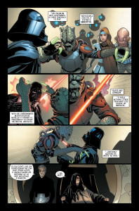 Darth Vader #6 - Vader takes on cyborgs