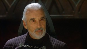 Christopher Lee as Count Dooku in Attack of the Clones