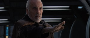 Christopher Lee as Count Dooku in Revenge of the Sith