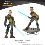 Disney Infinity Kanan concept art with final figure