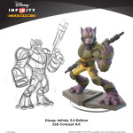 Disney Infinity Zeb concept art with final figure