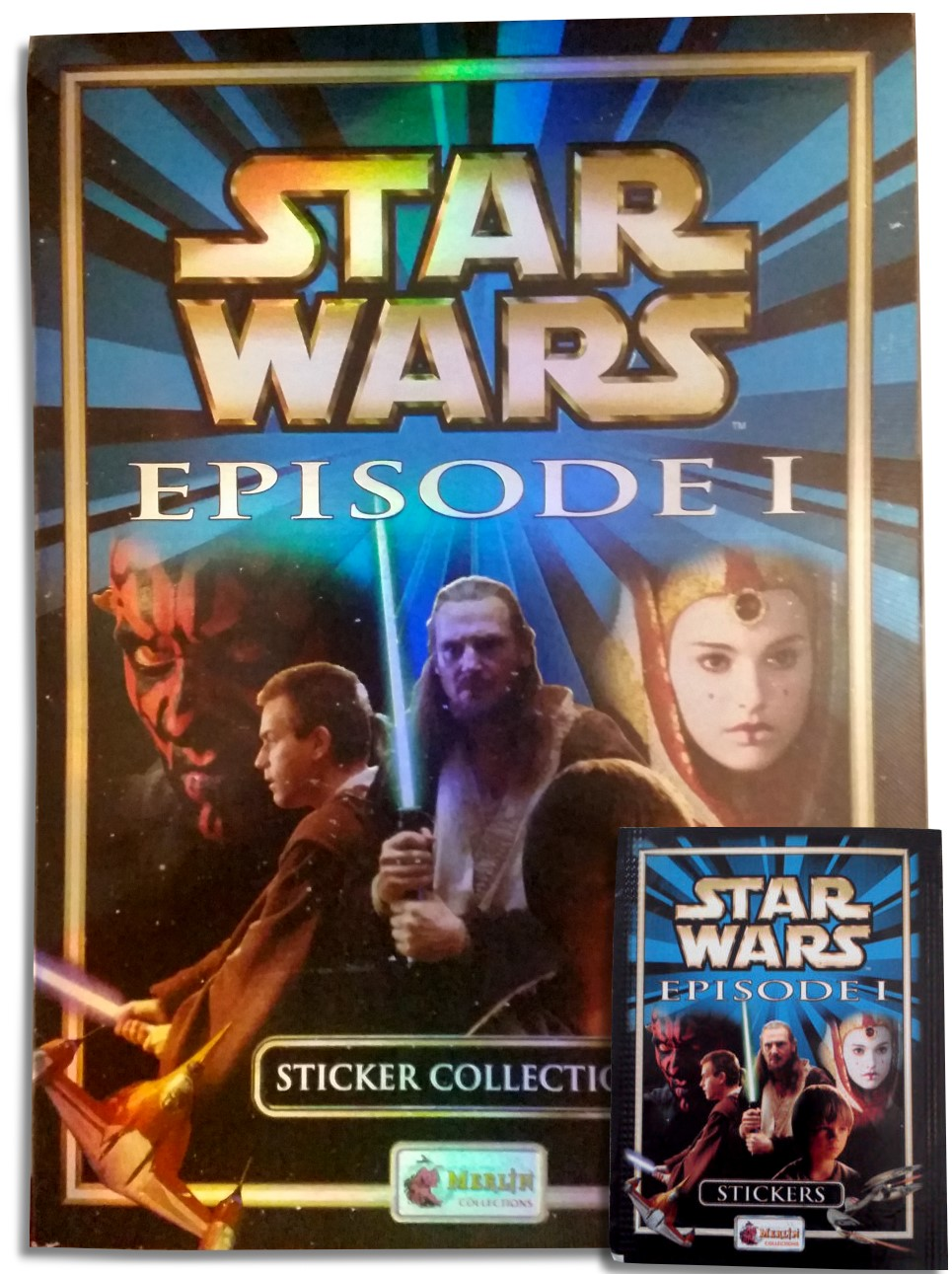 Star wars the phantom menace sticker book cover
