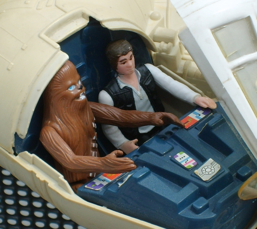 Millennium Falcon toy - cockpit