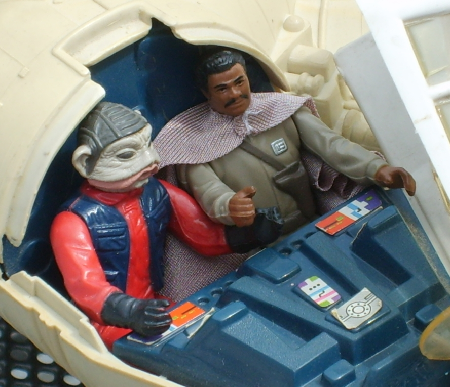 Millennium Falcon toy - Lando and Nien Nunb