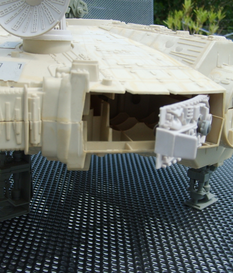 Millennium Falcon toy - side view