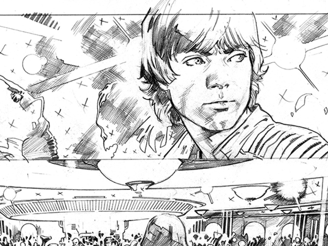 Star Wars #8 page by Stuart Immonen
