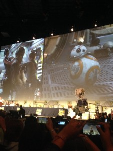 Star Wars: The Force Awakens panel at San Diego Comic Con 2015