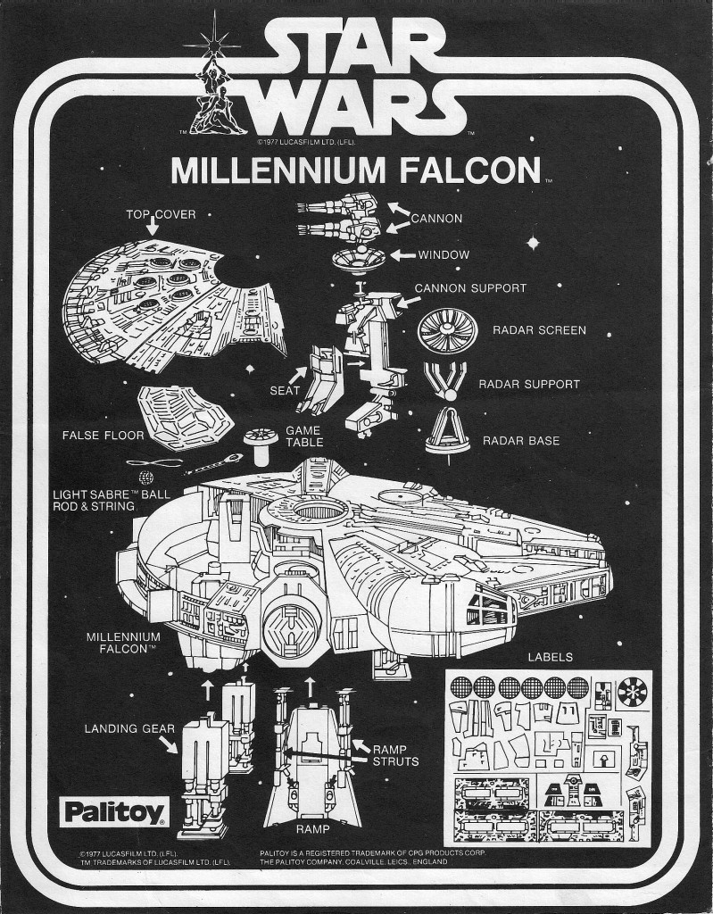 Millennium Falcon toy - manual