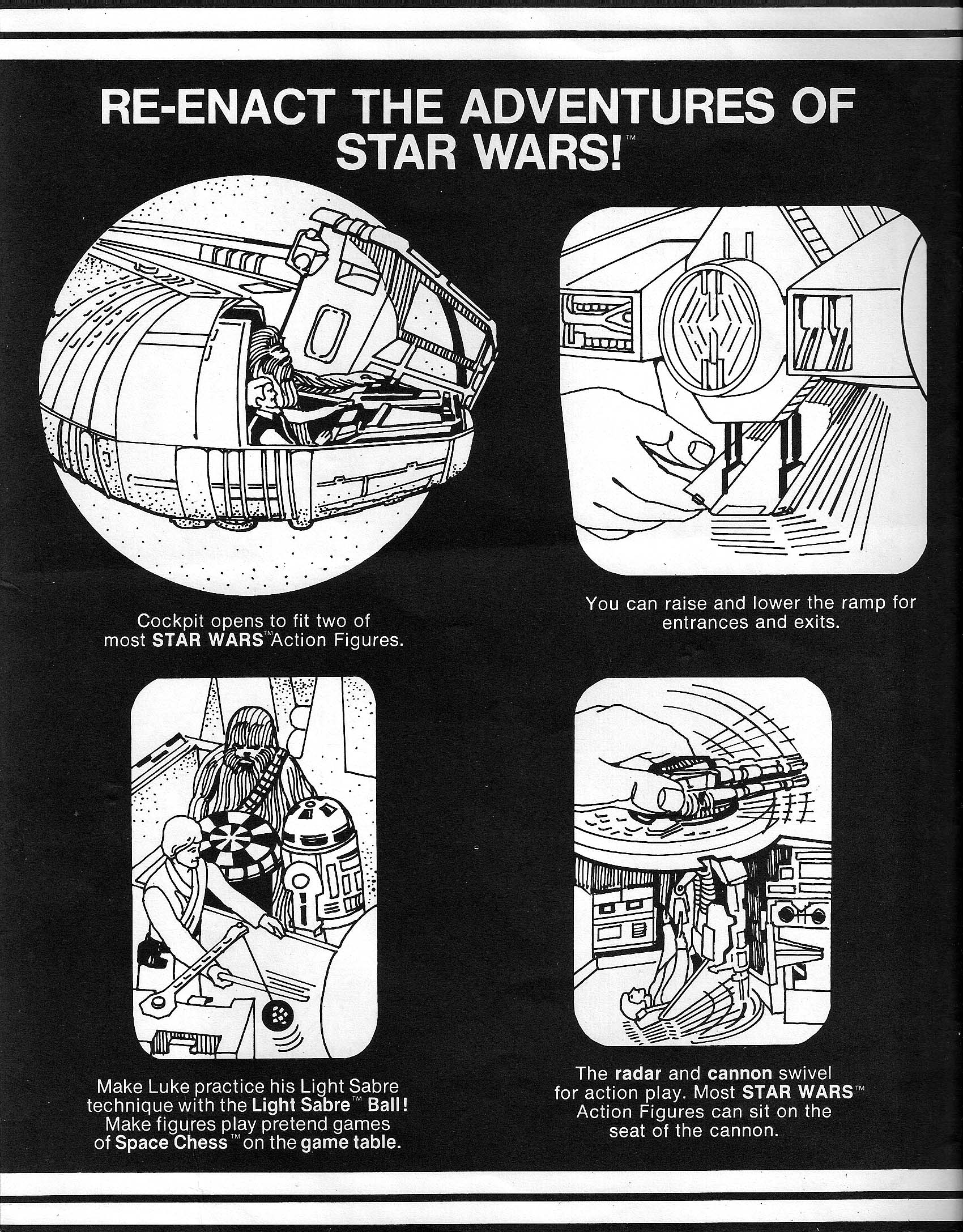 The Vintage Vault Revisiting Kenners Millennium Falcon Kenner Boat Wiring Diagram Toy Manual