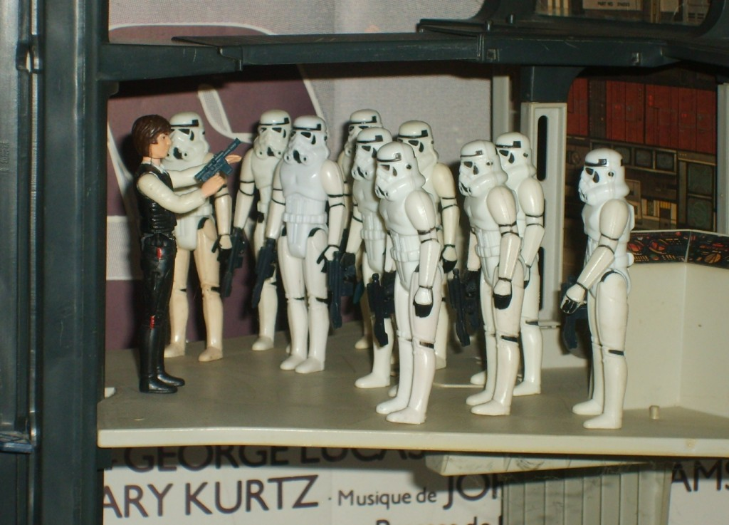 Kenner Death Star playset - Han vs. stormtroopers