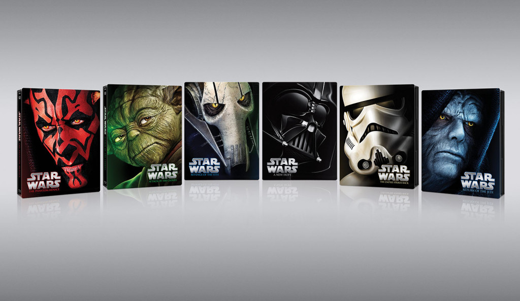 Star Wars Blue-ray covers