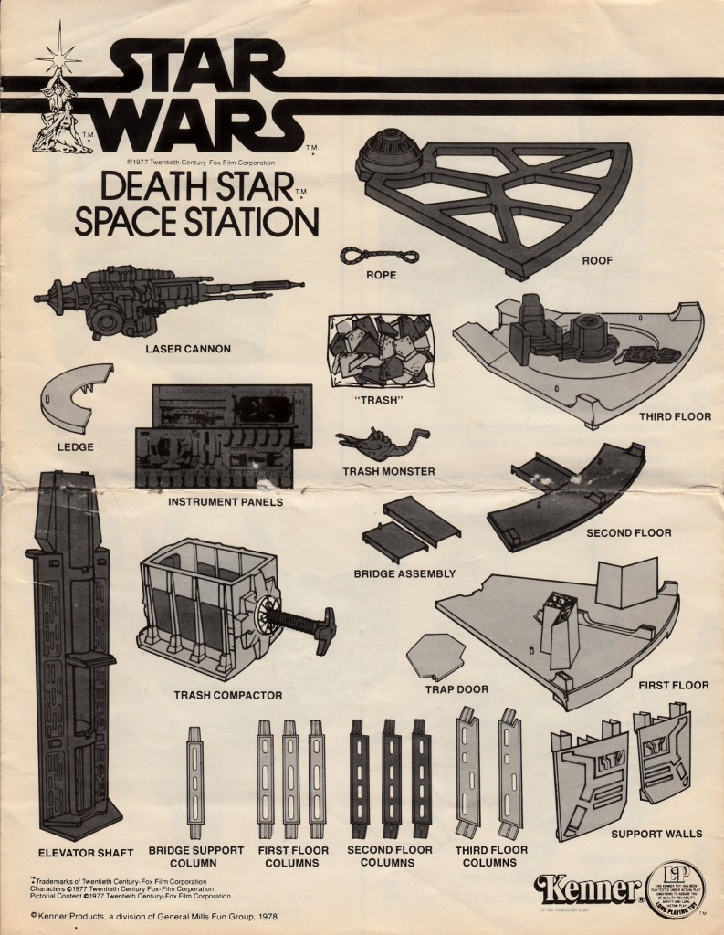 Kenner Death Star playset - instructions